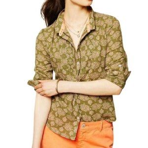 Anthropologie Holding Horses Ismay Button Up Top